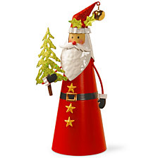 "National Tree 12"" Metal Santa Character"