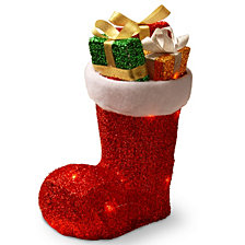 """National Tree PreLit 12"""" Gift Filled Boot"""