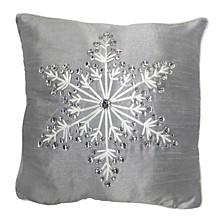 "16"" x 16"" Cushion with Snowflake Design"