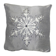 "National Tree Company 16"" x 16"" Cushion with Snowflake Design"