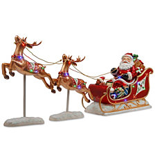 National Tree Company Santa's Sleigh and Reindeer Assortment