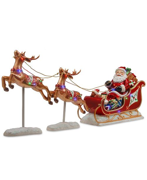 National Tree Company Santa S Sleigh And Reindeer Assortment Reviews Holiday Shop Home Macy S