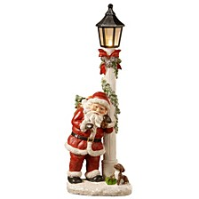 "National Tree 17"" Polyresin Santa Tower with Battery Operated LED Lights"