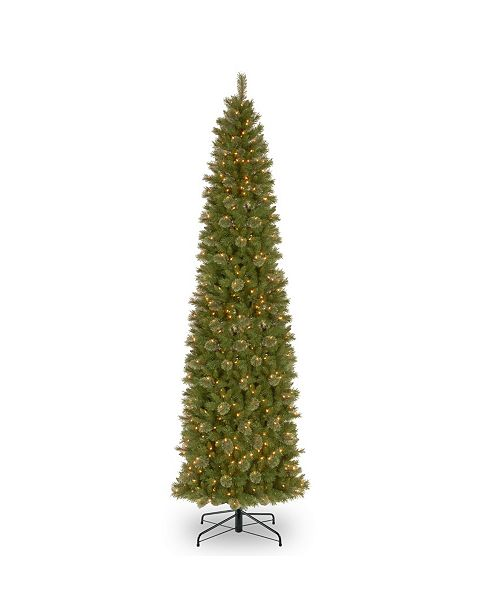 National Tree Company National Tree 12' Tacoma Pine Pencil Slim Tree with 750 Clear Lights