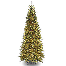 National Tree 10' Tiffany Fir Slim Tree with 800 Clear Lights