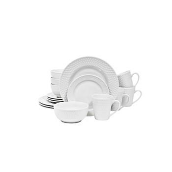 Sango Bramlette White 16 Piece Dinnerware Set