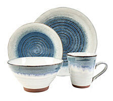 Sango Talia Dusk Blue 16 Piece Dinnerware Set