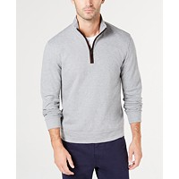 Deals on Tasso Elba Men's Piped 1/4-Zip Sweater