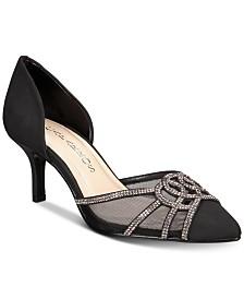 c3c2aa4b817 Nina Bianca Mesh Bow Kitten Heel Pumps   Reviews - Pumps - Shoes ...