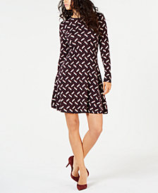 MICHAEL Michael Kors Printed A-Line Dress