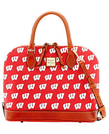 Dooney & Bourke Wisconsin Badgers Zip Zip Satchel