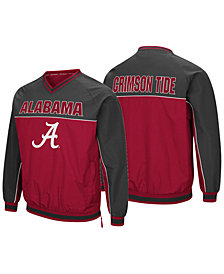 Colosseum Men's Alabama Crimson Tide Windbreaker Pullover Jacket