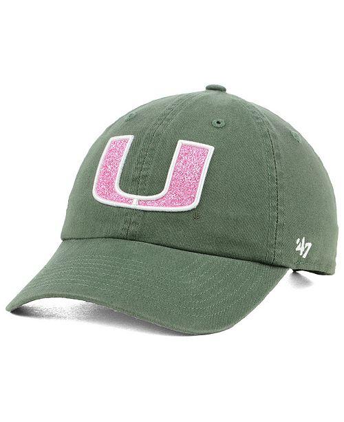 b4bcc96f92b1c 47 Brand Women s Miami Hurricanes Glitta CLEAN UP Cap - Sports Fan ...