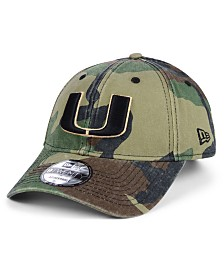 New Era Miami Hurricanes Woodland Classic Twill 9TWENTY Strapback Cap
