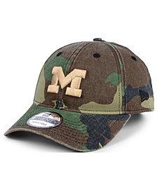 New Era Michigan Wolverines Woodland Classic Twill 9TWENTY Strapback Cap