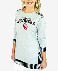 Women's Oklahoma Sooners Striped Panel Long Sleeve T-Shirt