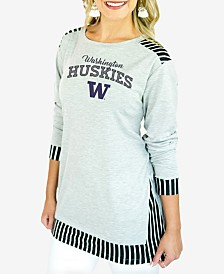 Gameday Couture Women's Washington Huskies Striped Panel Long Sleeve T-Shirt