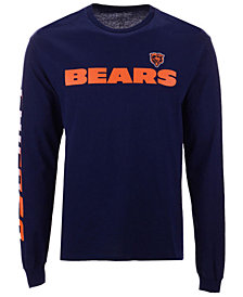 Authentic NFL Apparel Men's Chicago Bears Streak Route Long Sleeve T-Shirt