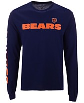 Authentic NFL Apparel Men s Chicago Bears Streak Route Long Sleeve T-Shirt bc32917af