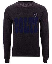 Authentic NFL Apparel Men's Indianapolis Colts Streak Route Long Sleeve T-Shirt