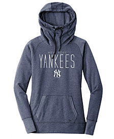 New Era Women's New York Yankees Triblend Fleece Hooded Sweatshirt