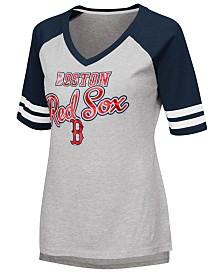 G-III Sports Women's Boston Red Sox Goal Line Raglan T-Shirt