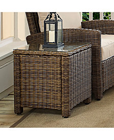Bradenton Outdoor Wicker Rectangular Side Table