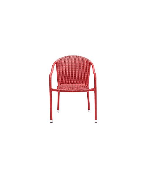 Outstanding Palm Harbor Outdoor Wicker Stackable Chairs Set Of 4 Creativecarmelina Interior Chair Design Creativecarmelinacom