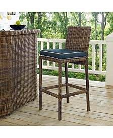 Bradenton Outdoor Wicker Bar Height Stools (Set Of 2) With Cushions
