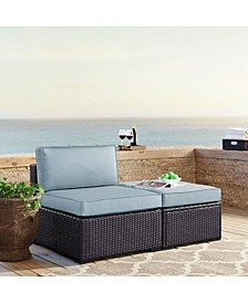 Biscayne Armless Chair With Cushions