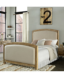 Cambria King Headboard And Footboard In Linen