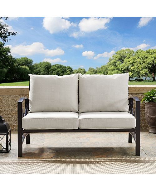 Crosley Kaplan Loveseat With Universal Cushion Cover