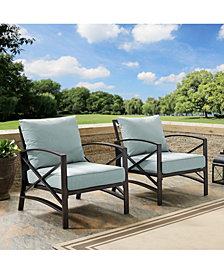 Kaplan 2 Piece Outdoor Seating Set With Cushion - 2 Outdoor Chairs