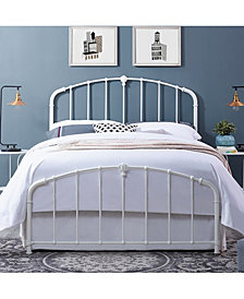 Hazel King Metal Headboard And Footboard