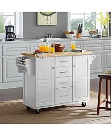 Elliott Kitchen Cart In With Natural Top