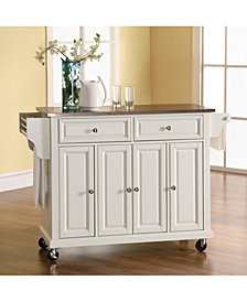 Stainless Steel Top Kitchen Cart Island