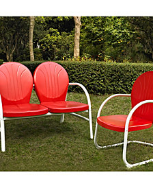 Griffith 2 Piece Metal Outdoor Conversation Seating Set - Loveseat And Chair