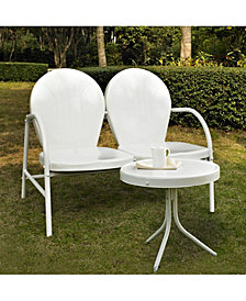 Griffith 2 Piece Metal Outdoor Conversation Seating Set - Loveseat And Table