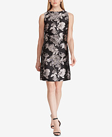 American Living Floral-Print Jacquard Dress