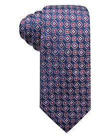 Tasso Elba Men's Greco Medallion Silk Tie, Created for Macy's