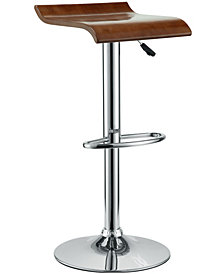Modway Bentwood Bar Stool in Oak