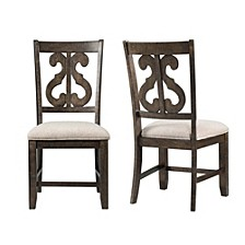 Stanford Wooden Swirl Back Side Chair Set
