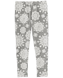 Epic Threads Little Girls Snowflake-Print Leggings, Created for Macy's