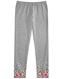Epic Threads Little Girls Border-Print Leggings, Created for Macy's
