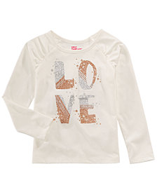 Epic Threads Toddler Girls Long-Sleeve Love T-Shirt, Created for Macy's