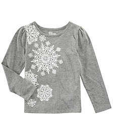 Epic Threads Little Girls Long-Sleeve Snowflake T-Shirt, Created for Macy's