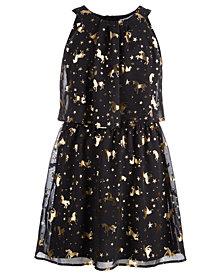 Epic Threads Big Girls Foil-Print Unicorn Dress, Created for Macy's