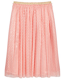 Epic Threads Big Girls Dot-Mesh Pleated Skirt, Created for Macy's