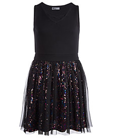 Epic Threads Big Girls Sequin Mesh Dress, Created for Macy's