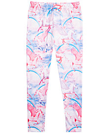 Epic Threads Big Girls Unicorn-Print Leggings, Created for Macy's